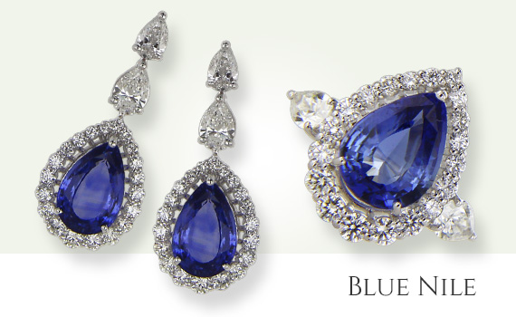 Blue Nile Earrings and Ring